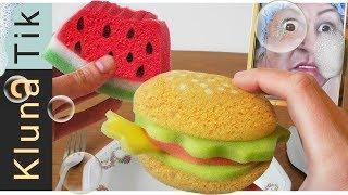 EATING FLUFFY SPONGES!! Kluna Tik Dinner #102 | ASMR eating sounds no talk