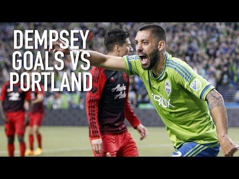 Clint Dempsey's 6 goals vs the Portland Timbers