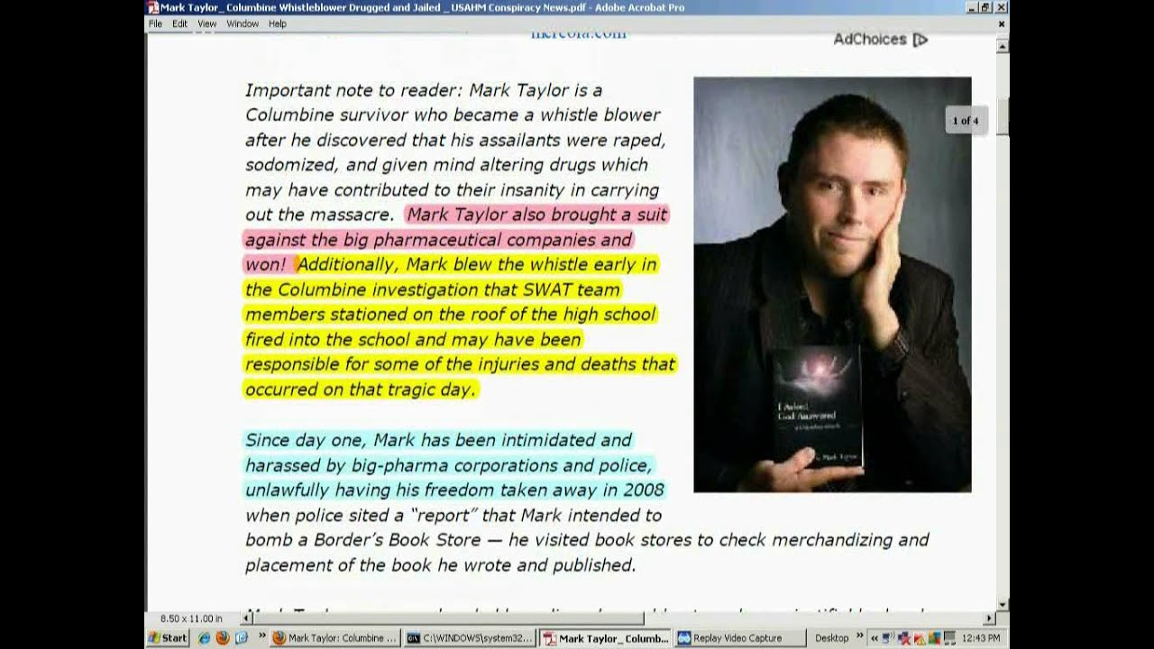 Mark Taylor  The Columbine Whistleblower  Drugged  U0026 Jailed