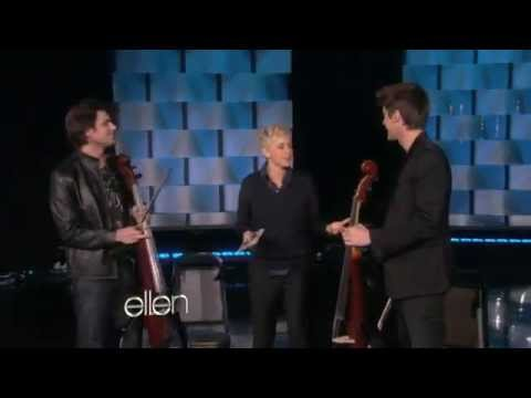 2cellos welcome to the jungle live on ellen degeneres youtube - Ellen show live ...