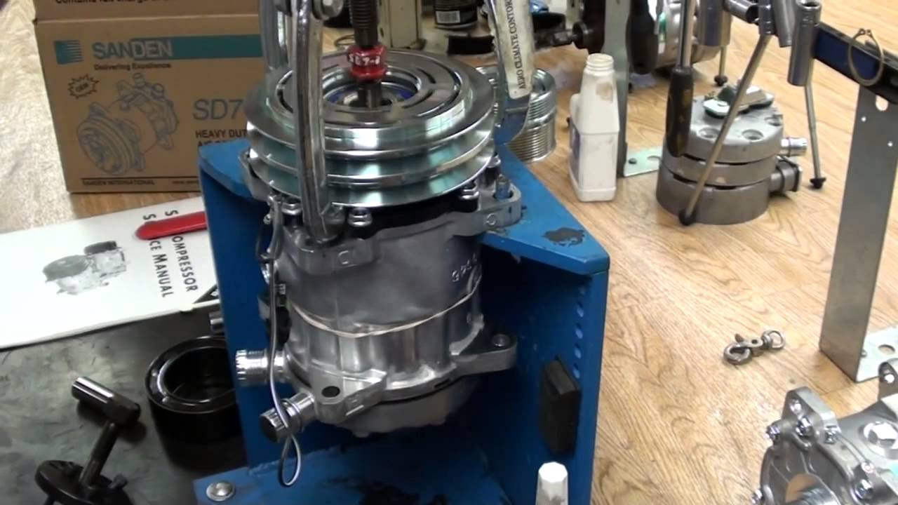 Sanden Compressor Clutch Removal Sd7 Amp Sd5 Youtube