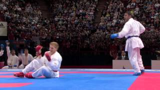 (2/5) Bronze Male Team Kumite Netherlands vs Iran. WKF World Karate Championships 2012