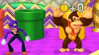 Mario Party 10 Coin challenge 7 Rounds -Peach vs Toadette vs DonKey Kong vs Waluigi