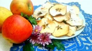 Домашние Чипсы из Яблок - яблочные чипсы / десерт / КАК ПРИГОТОВИТЬ ПОЛЕЗНЫЕ ЧИПСЫ САМОМУ???