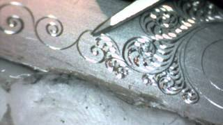 Gun Engraving Practice Breaking The Tip by Shaun Hughes