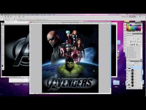Photoshop Tutorial - The Avengers Movie Poster