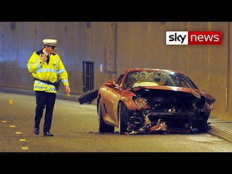 http://video.news.sky.com/skynews/video/ As a professional footballer, Christiano Ronaldo is used to taking corners. But he was rather less successful, when he lost control of his Ferrari...
