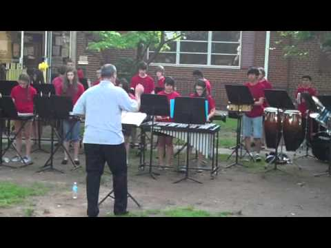 Roselle Park High School Percussion Ensemble- RP Summerfest, 5/29/13- James Bond,part 2