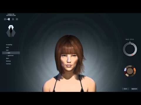 EVE online new character creator female preview
