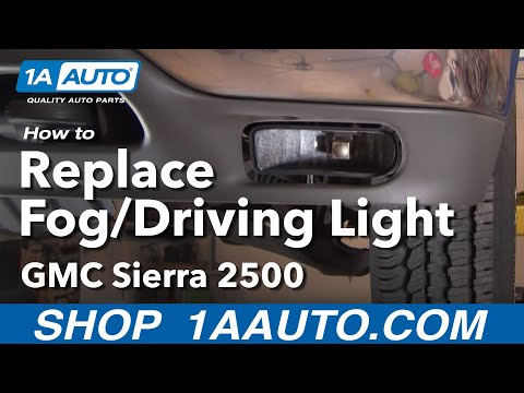 How To Install Replace Broken Foglight GMC Sierra Yukon and XL 99-06 1AAuto.com