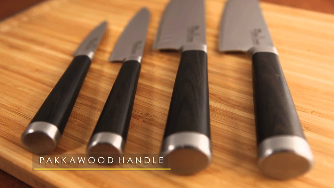 ryuu vg10 damascus steel 8 piece knife block youtube