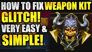 Black Ops 3 : How To Fix Weapon Kit Glitch!! Very Simple fix! (Get Your Attachments Back!)