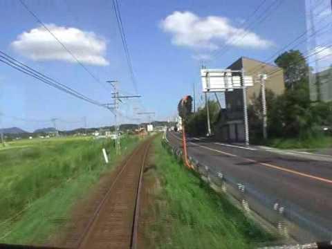 【一畑】 前面展望(6) 松江イングリッシュガーデン前→松江しんじ湖温泉