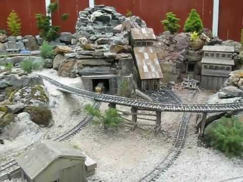 g scale  garden railway mining camp