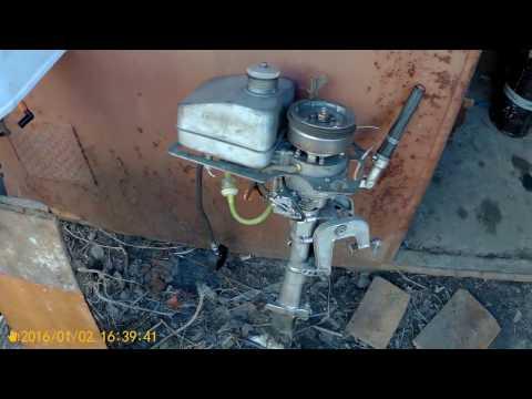 лодочный мотор салют видео по разборке
