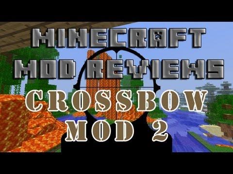 Minecraft Mod Reviews: Crossbow Mod 2! (HD)
