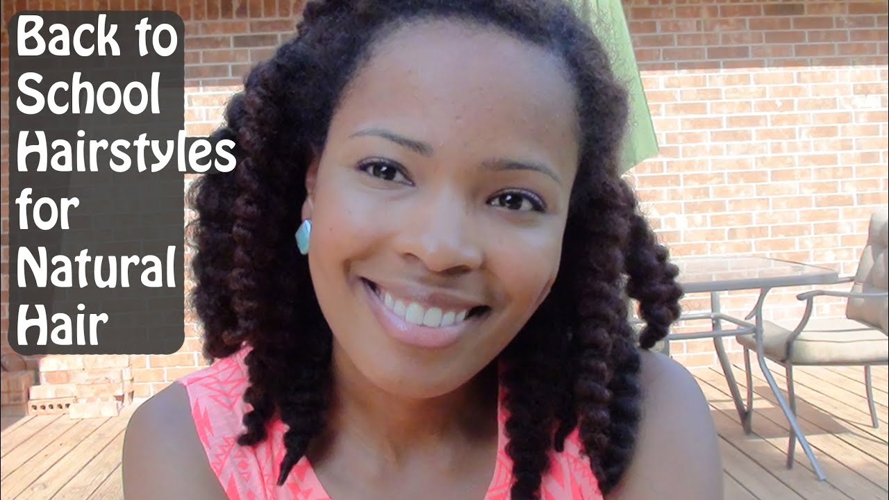 Back to School Hairstyles for Natural Hair | BeautyCass - YouTube