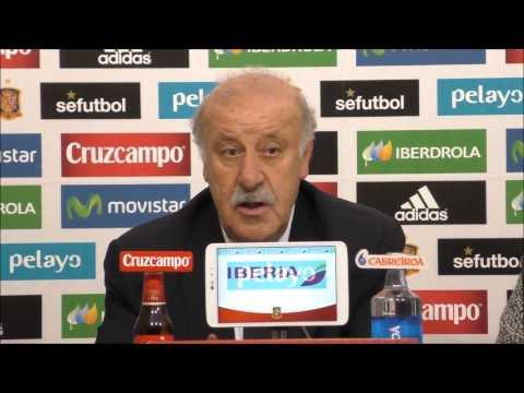 Vicente Del Bosque en rueda de prensa 27/03/2015