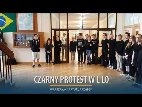 Czarny Protest Uczniów L LO W Warszawie