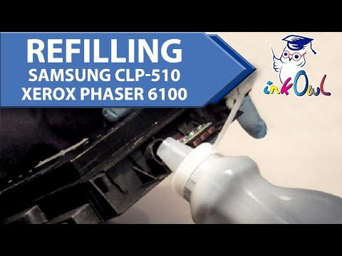 How to Refill Samsung CLP-510 and Xerox Phaser 6100 Toner Cartridges