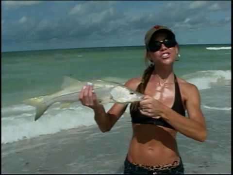 Laura Francese Snook Fishing On The Beach