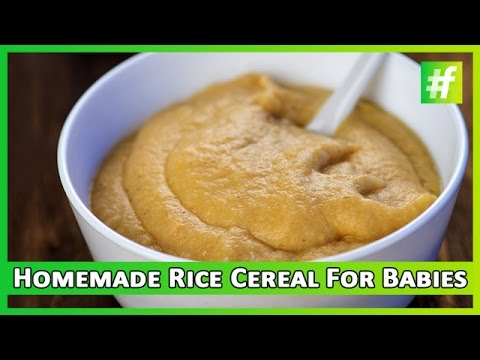 #fame food -​​ 10 Min Homemade Rice Cereal for Babies |  Nameeta Sohoni