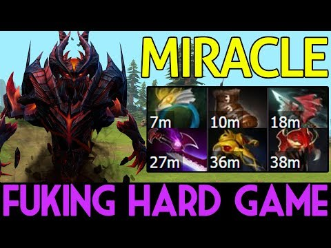 Miracle- Dota 2 [Shadow Fiend] Fuking Hard Game - 1v9 Failed