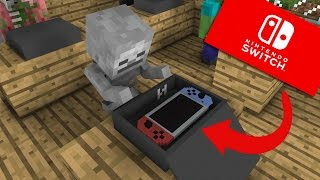 Monster School: Unboxing Nintendo Switch - Minecraft Animation