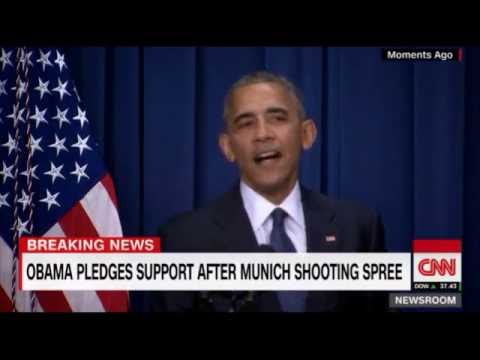 Barack Obama Cracks a Joke While Talking About Munich Terrorist Attack