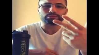 Makdessi shows his wired mouth after Cerrone broke his jaw