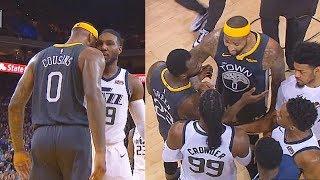 DeMarcus Cousins Exchanges Words With Jae Crowder & Confronts Him In Heated! Warriors vs Jazz