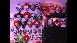My Creepy Clown Mask Collection (Updated Video) Subscriber Requested