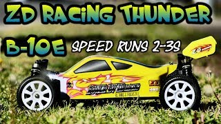 ZD RACING Thunder B-10E 4WD Brushless 1/10 Buggy - Speed Runs