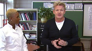 Watch Gordon Ramsey Surprise a Kids' Cooking Class! (Exclusive)