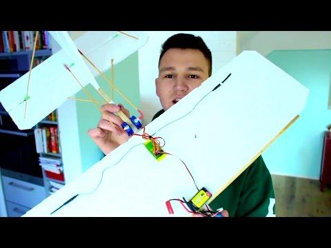 RC Flugzeug für 1€ bauen! Günstigstes Ferngesteuertes Flugzeug (ohne Elektronik)