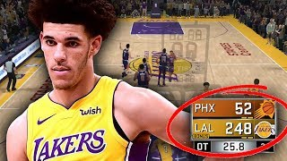 YOU WONT BELIEVE HOW MANY POINTS LONZO BALL SCORED!! NBA 2K18