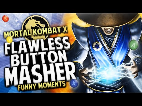 Mortal Kombat X Funny Moments - CHAOS vs KOSDFF!! FLAWLESS BUTTON MASHER!