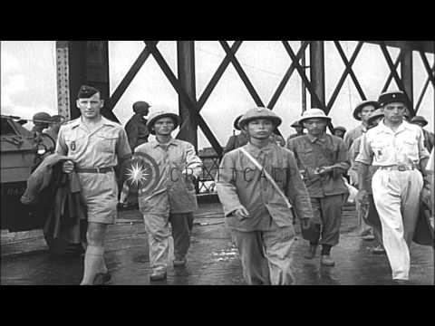 Scenes in Vietnam following the First Indochina war HD Stock Footage