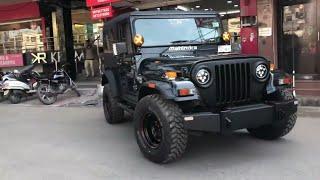 Mahindra Thar modified in ( jeep wrangler ) #thar