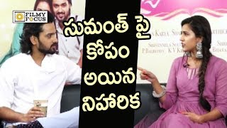 Niharika Angry on Sumanth Ashwin for Scolding her in Live Interview
