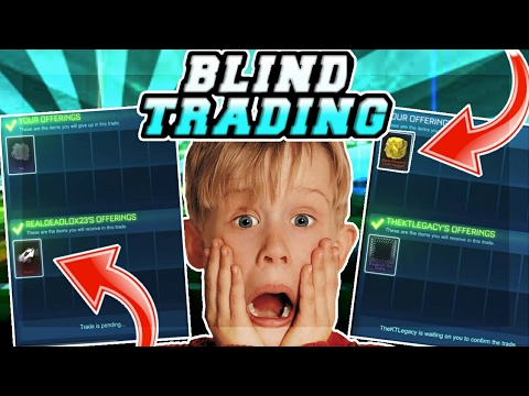 """""""OMG"""" BLIND TRADING MY BETA NUGGET AND PAINTED MANTIS ON ROCKET LEAGUE!!"""