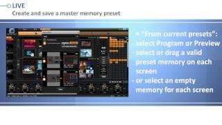 The LiveCore's Web RCS: working with memory presets