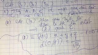 (Live )Các dạng toán cực trị trong hình học Oxyz cực dễ hiểu TDT(P1)