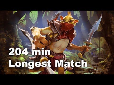 204 min longest match ever. 60000 comeback Dota 2