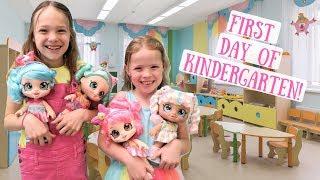 Maya's First Day of Kindergarten with Her Kindi Kids!