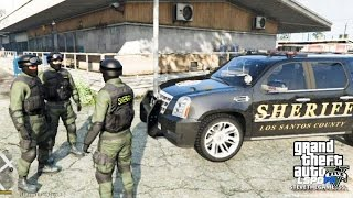 GTA 5 - LSPDFR - EPiSODE 89 - LET'S BE COPS - SHERIFF/ SWAT (GTA 5 PC POLICE MODS) #PrayForParis