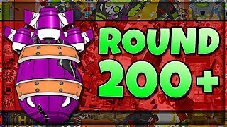ROUND 200 + CRAZY LATE GAME!! BTD6 TIER 5 TOWERS