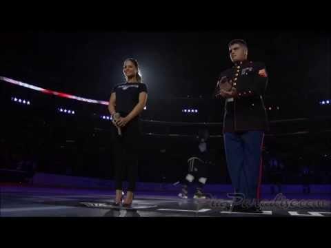 Pia Toscano Sings The National Anthem - LA Kings vs Buffalo Sabres - 10/23/14