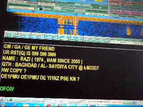 My RTTY QSO with OE1PMU on 15m band in 28 12 2012