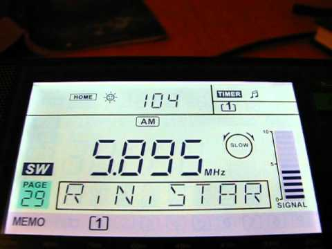 SW: Radio Northern Star 5895 KHz Sala, Sweden 2012-07-06